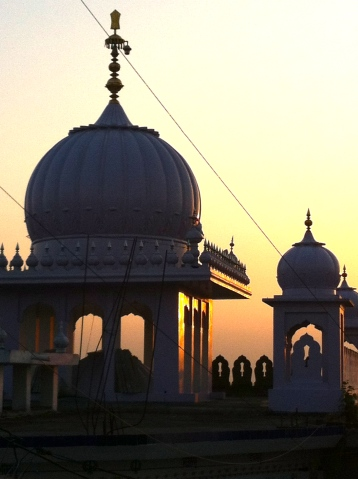 Anandpur Sahib Dusk Silhouette