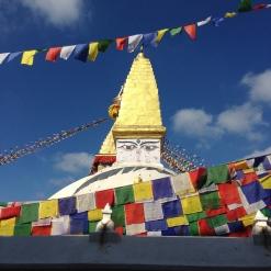 stupah and prayer flags