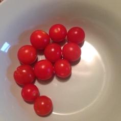My neighbor brought me cherry tomatoes